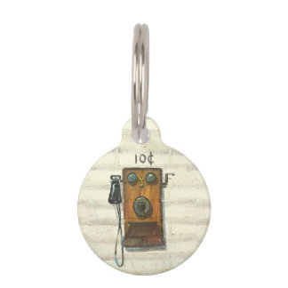 antiker Wandtelefon-Haustierumbau Haustiermarke