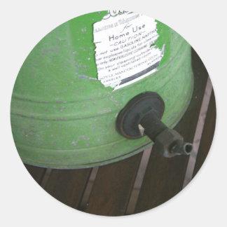 Antiker Waschmaschineaufkleber Runder Aufkleber