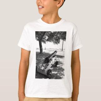 Antiker ziviler Kriegs-Militärkanone Schwarzweiss T-Shirt