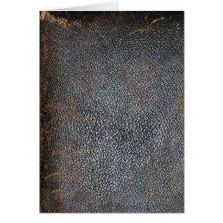 Antikes abgenutztes Buch-Leder Karte