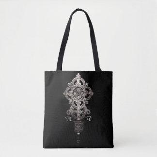 Antikes äthiopisches Prozessionskreuz mit Tasche
