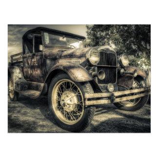 Antikes Auto, altes Auto Postkarte