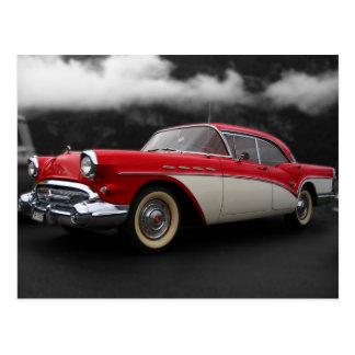 Antikes Auto in den Wolken Postkarten