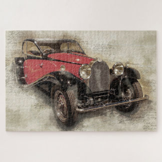 Antikes Auto Puzzle