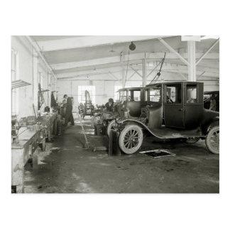 Antikes Auto-Reparatur-Garage, frühe 1900s Postkarte