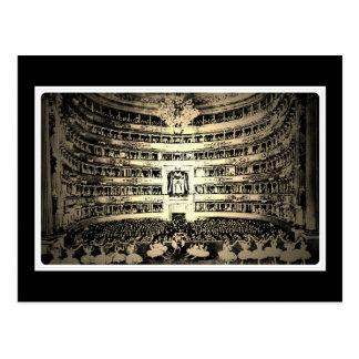 Antikes Ballett Scala Mailand Schwarzweiss-Foto Postkarte
