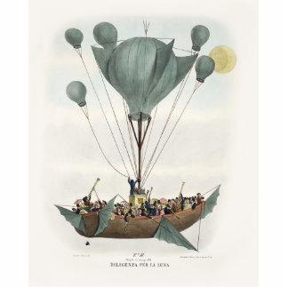 Antikes Ballon-Luft-Schiff Freistehende Fotoskulptur