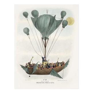 Antikes Ballon-Luft-Schiff Postkarten
