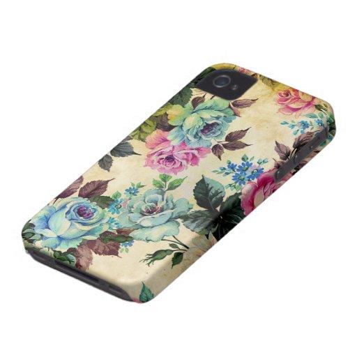 Antikes Blumenmuster iPhone 4 Case-Mate Hüllen