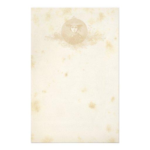 antikes briefpapier bedrucktes papier zazzle. Black Bedroom Furniture Sets. Home Design Ideas