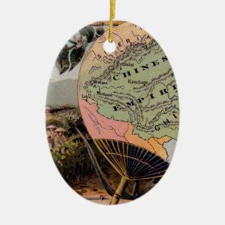 Antikes China-Karten-chinesisches Reich-absolute Keramik Ornament