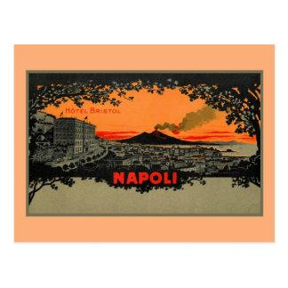 Antikes Farbelitho Hotel Bristol Neapel Napoli Postkarte