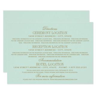 Antikes Gold der Hochzeits-Informations-Karten-| Karte