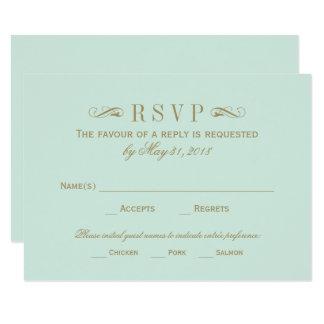 Antikes Gold Hochzeit UAWG Karten-  blühen 8,9 X 12,7 Cm Einladungskarte