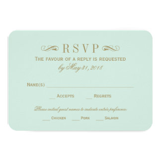 Antikes Gold Hochzeit UAWG Karten-| blühen 8,9 X 12,7 Cm Einladungskarte