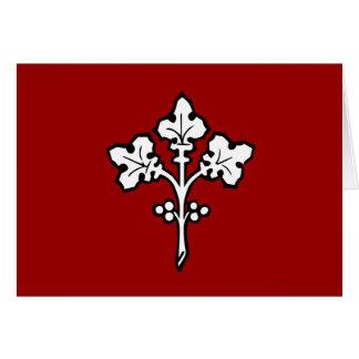 Antikes keltisches Stechpalmesprig-Symbol Karte