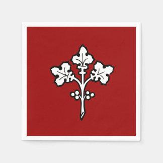 Antikes keltisches Stechpalmesprig-Symbol Servietten