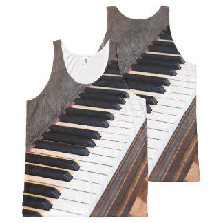 Antikes Klavier-Trägershirt Komplett Bedrucktes Tanktop