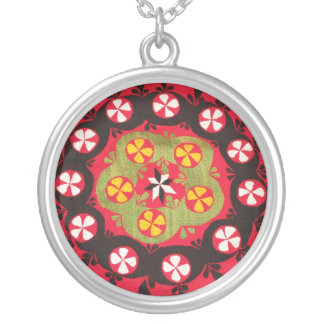 Antikes Osmane-Stickerei-Türkische-Blumenmuster Halskette
