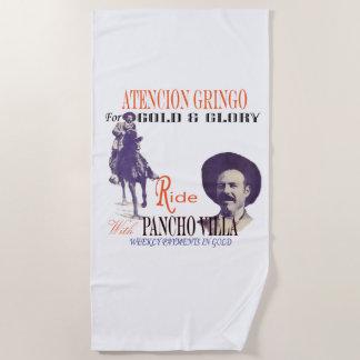 Antikes Pancho Villa-Fahrplakat Strandtuch