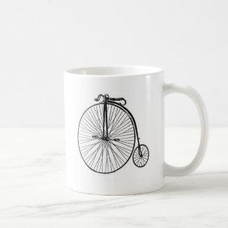 Antikes Penny-Farthing-Fahrrad Kaffeetasse