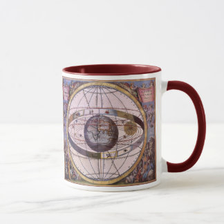 Antikes Ptolemaic Sonnensystem, Andreas Cellarius Tasse