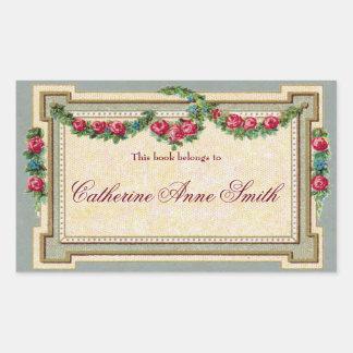Antique Rose-Framed Bookplate