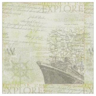 Antikes Schiffs-Baumwollgewebe Stoff