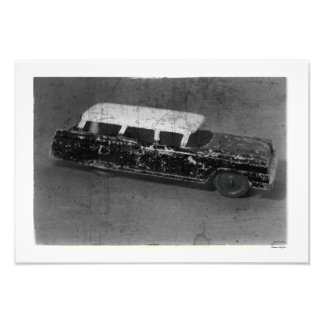 Antikes Spielzeug-Auto-Vintages inspiriertes Fotodruck