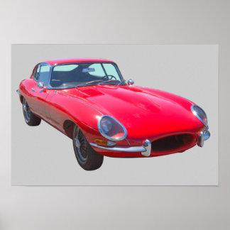 Antikes Sport-Auto 1964 Rot-Jaguars XKE