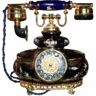 Antikes Telefon Freistehende Fotoskulptur