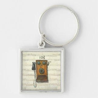 antikes Telefon keychain Schlüsselanhänger