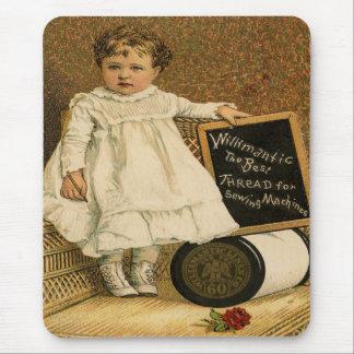 Antikes Vintages viktorianisches Kind Mousepad