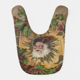 Antikes Vintages Weihnachten Sankt altmodisch Babylätzchen