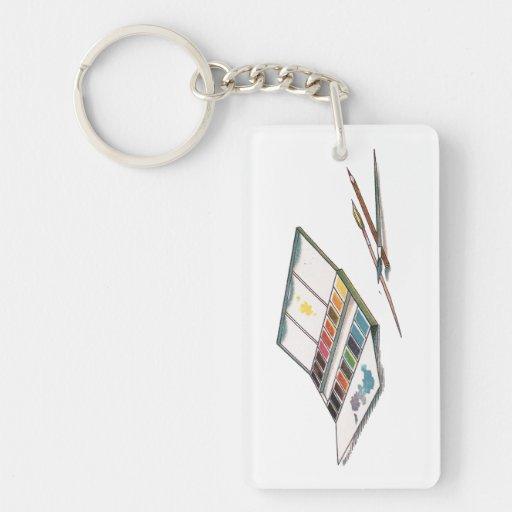 Antikes Watercolors-Farben-Set Schlüsselanhänger