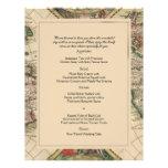 Antikes Welts-Karten-Hochzeits-Menü