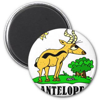 Antilope durch Lorenzo Traverso Runder Magnet 5,7 Cm