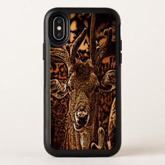 Antilope gebrannter hölzerner Korn-Effekt OtterBox Symmetry iPhone X Hülle