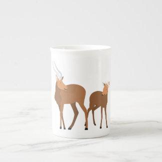 Antilopen-Mamma und Baby Porzellantasse