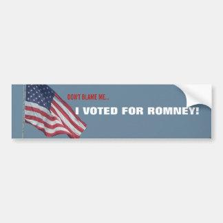 AntiObama, den ich für Romney republikanisches Autoaufkleber