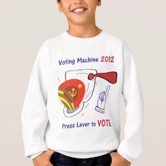 Antiobama-Wahlautomat-Licht-Hintergrund Sweatshirt