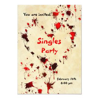 AntiParty Einladung des valentines Tages