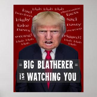 Antipolitische Parodie präsidenten-Donald Trump Poster