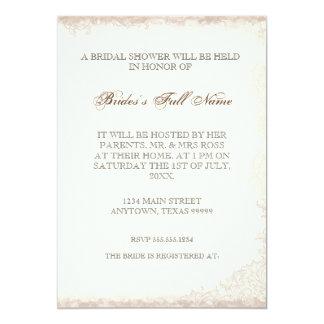 Antiqued viktorianische Rosen-Brautparty-Einladung