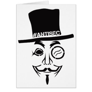 AntiSec AntiSecurity Hacker-Logo Karte