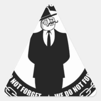 antisec Logo Dreiecks-Aufkleber