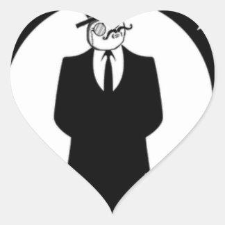 antisec Logo Herz Sticker
