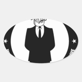 antisec Logo Ovaler Aufkleber