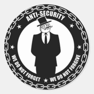 antisec Logo Runder Aufkleber