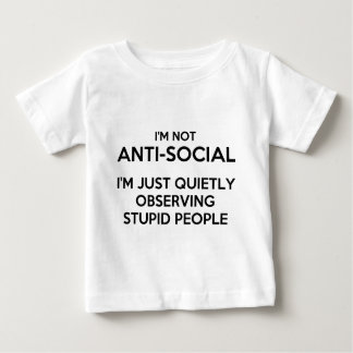 Antisoziales Observing.png Baby T-shirt